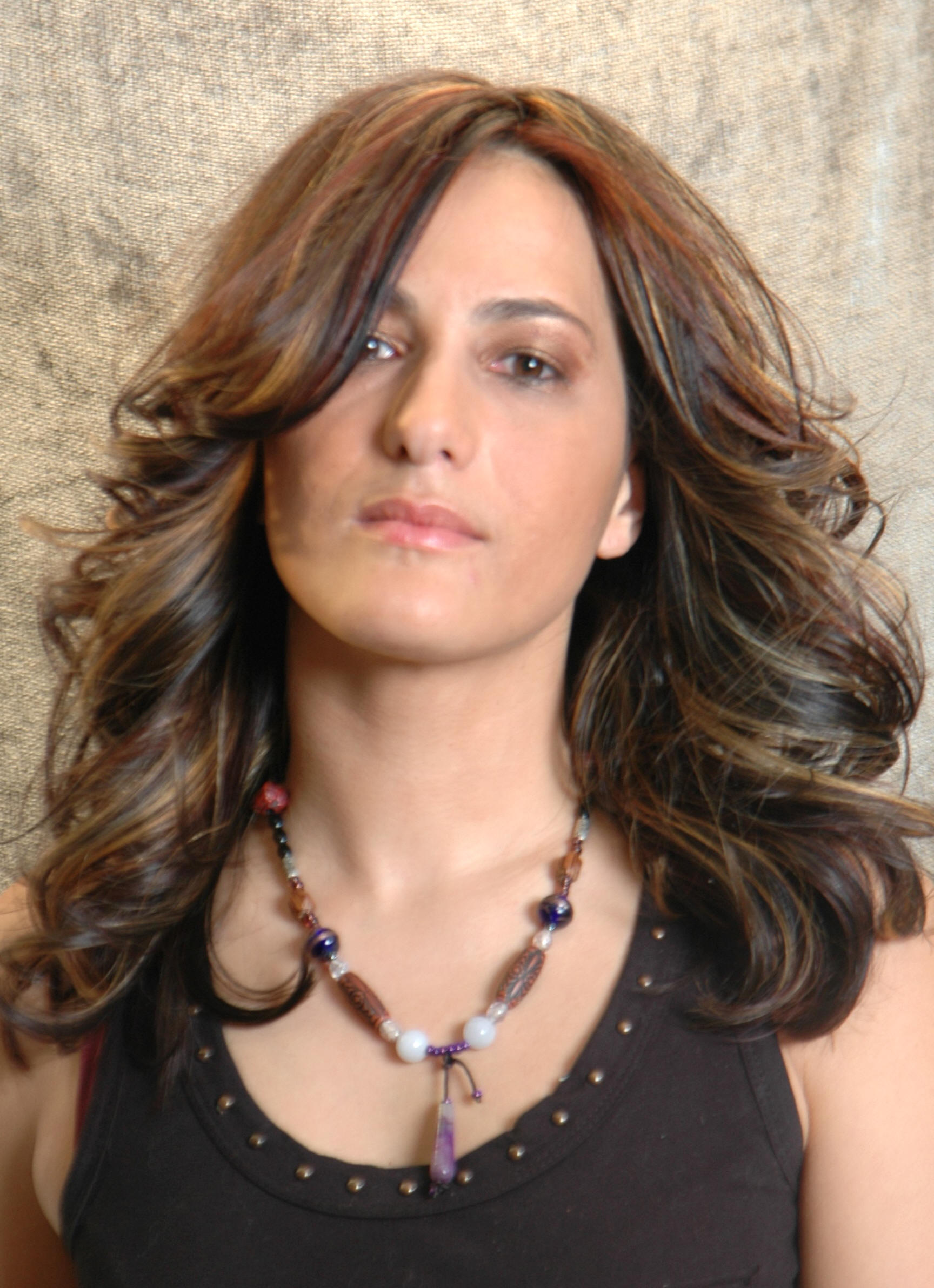 Hair Glamour by Lanza- Round layered cut with multi color highlights hairsyles.